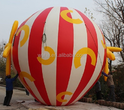 18ft giant advertising inflatable air balloon/hot air balloon inflatable W408