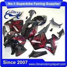 FFKHD008 Fairings For Motorcycle For CBR600RR 2005 2006 Black And Red Flames