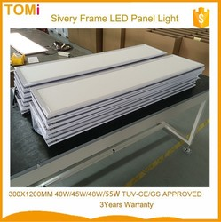 White Frame 300x1200mm 40w/45W/48W/55W led panel light LIFUD Power Driver CE,ROSH,GS led panel light aluminum frame
