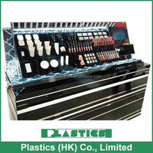 Cosmetic makeup counter display / LED lighting / LCD monitor / Stainless Steel / Changeable cassette