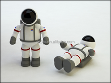 kids use imagination toy, play outside vinyl action figure, spaceman action figure.