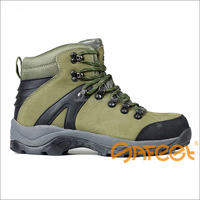 Steel toe steel mid sole vulcan safety boots spikes safety shoe anti slip and metal safety SA-4201