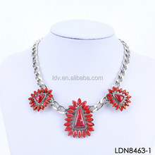 Natural Stones Triangle Necklace Special Accessories For Woman