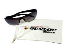 sunglasses single string microfiber pouch with screen print