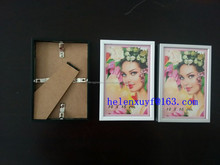 hot sale in Germany 10*15cm to 70*100cm silver matt brushed aluminum photo frame with paper protector