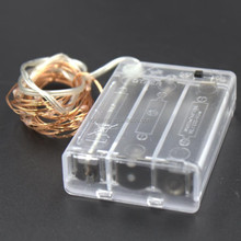 Cheap Price Copper Wire LED Fairy Lights With Battery Box,RGB chaning color holiday