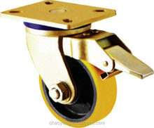 2015 hot sales swivel with brake heavy duty caster china supplier 8 inch