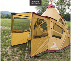 Korean Style Conical Camping Tent Big Family chinese fishing tackle