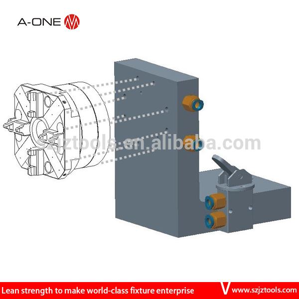 미니 와이어 EDM 기계 조절 강철 t 슬롯 베이스 플레이트 장착 어떤 하나의 자동 척- 수평 CNC 선반