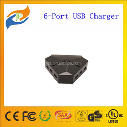 40W 5V 8A Desktop USB Chargers 6-port USB Chargers with 100-240V for iphone,smart,....