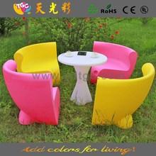 latest design plastic furniture PE material outdoor furniture modern hard plastic sofa