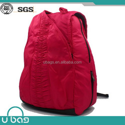 Fashion Pink Polyester bag sport and sports backpack