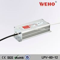 Cooling Aluminum shell smps 60w 1.65a waterproof 36v led driver