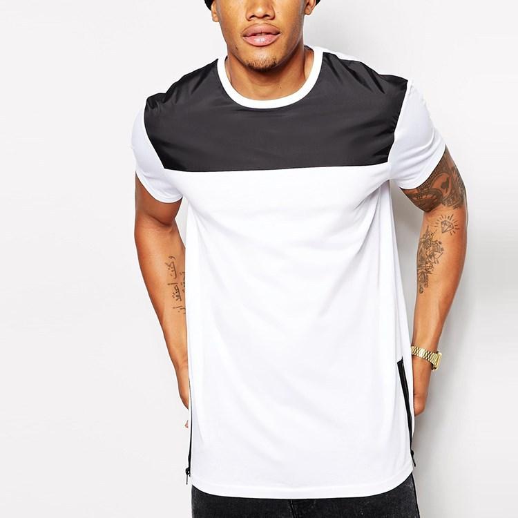 man longline side zip white custom made t shirt buy