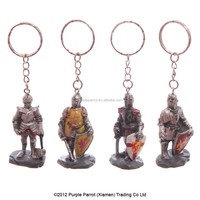 4 Assorted Medieval Knight Key Ring