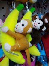 popular monkey keychain , Wholesale lovely monkey keychain cute music bird toy,hot selling plush keychain monkey