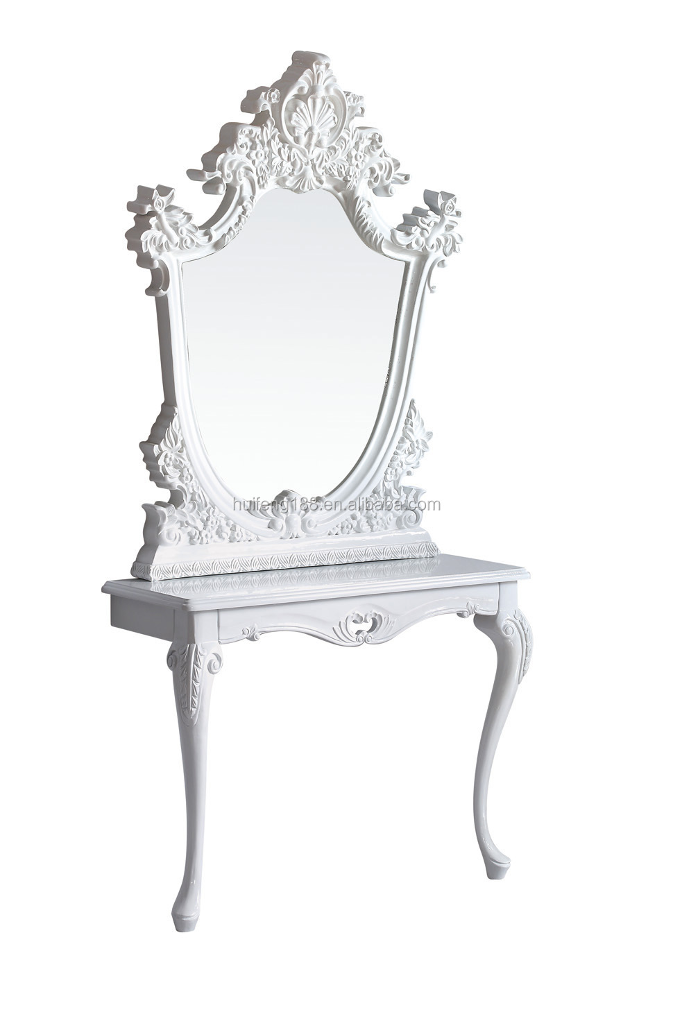 Hot sale salon equipment barber mirror table buy mirror for Salon table and mirror
