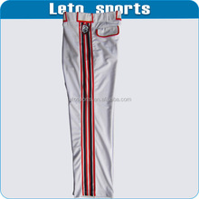 New Baseball Pants / Beltloops white with Red pinstripes youth & adult