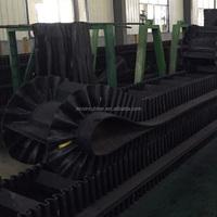 Excellent tough ability corrugated sidewall conveyor belt , industrial conveyor belt
