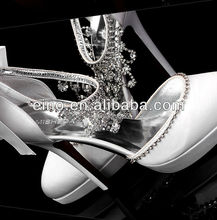 W801,Free shipping custom make 2013 rhinestones beautiful white/ivory bridal ladies wedding shoes