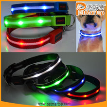 unique products to sell 2015 TZ-PET6100 dog collar nylon dog collars lighted led dog collar