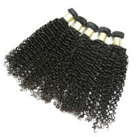 Wholesale cheap no tangle and shedding bundles deal curly Cabodian virgin human hair extensions