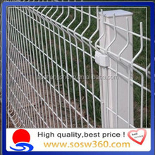 (10 years factory)High quality white pvc coated welded wire mesh fence