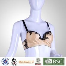 New Design Plus Size Young Women Golden Sex Bf Bra Panty Set