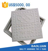 1000x1000 manhole cover with frame en124 d400