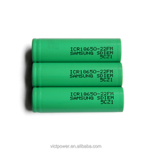 High quality li-ion battery 18650-22FM 3.6V 2200mah rechargeable battery cell for samsung