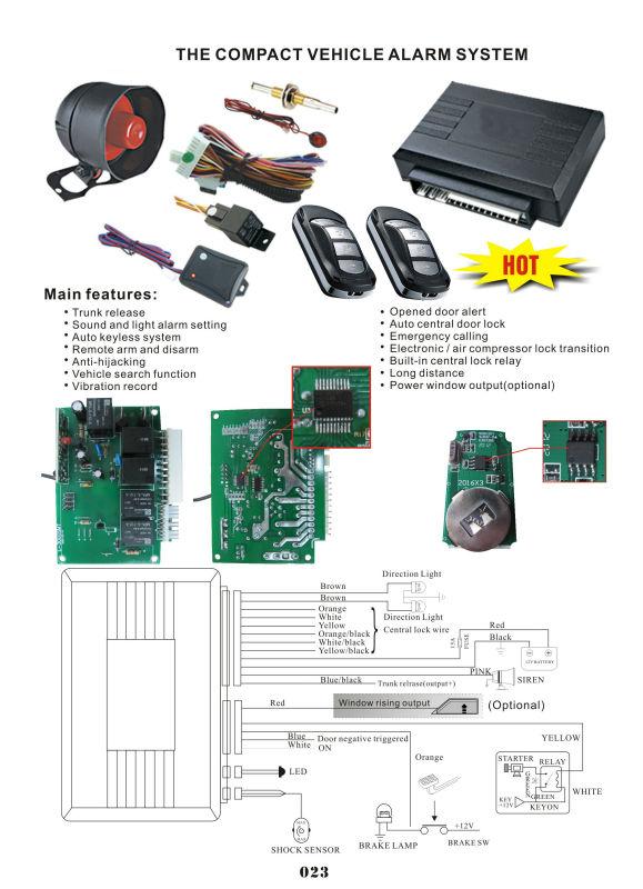 car alarm security system one way l3000 automotiv alarm manual car rh alibaba com car alarm system manual Fire Alarm System Manual