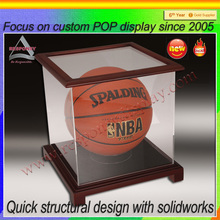 Small Acrylic Cube Display Transparent Basketball In Plexiglass