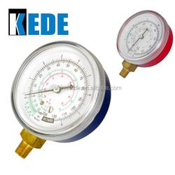 black steel case bourdon tube type pressure gauge