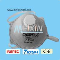 EN149 N95 dust masks active carbon dust mask with exhalation valve /printing neoprene face mask