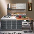 2015 modern gloss grão de madeira armário de cozinha acessível