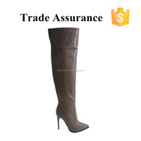 HOT selling high heel over the knee boots women thigh high boots leather knee boots