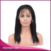 2015Hot sale Chinese virgin hair full lace wig 1# light yaki hot saxy real hair wigs uk