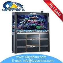 salt water fresh water marine aquarium glass fish tank for ornament fish, with sump filtration