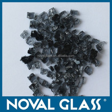 12mm colored broken/crushed/fireplace glass, Fire Pit Glass, Fire fit reflective glass