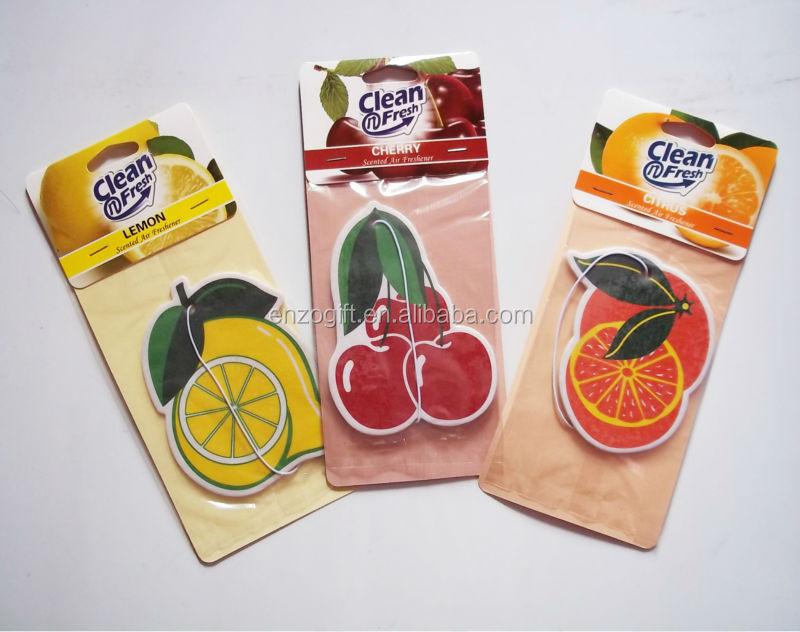 Promoção de purificadores de ar do carro, cartão de papel perfumado, purificadores de ar do carro de papel cartão