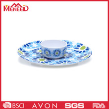 Blue flower decal new design royal pakistani melamine dinner set, plastic national high grade bowl and plate