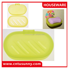 durable plastic bath soap dish holder for bathroom