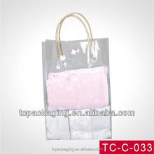 Transparent PVC travel luggage bag, plastic bag made in China