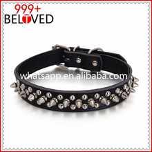 Leather Spiked Studded Dog Collar bells dog collar