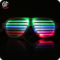 Shenzhen Factory Hot Selling Product Light Up Best Brand Sound Activated Sunglasses 2016