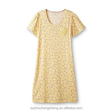 women's knit floral print jersey nightgown