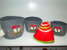 2015 new 100% pure wool felt cap and bowl good quality many colors
