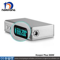 ave40 Wholesale 200W Smok Koopor Plus TC Vape Mod Vape Malaysia 18650 Battery Smok Koopor Plus 200W Subtank Mini Bell Cap