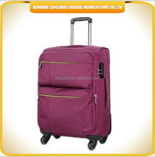 leisure style soft fabric luggage bags men and lady's fashion travel luggage in high quality