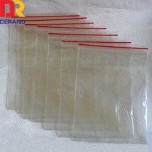 clear zip lock bags/zipper bag/cheap LDPE ziplock bags with red line